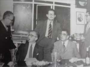 Max Aub, J. Díez-Canedo, Alí Chumacero, Agustín Yáñez y Ricardo Martínez.